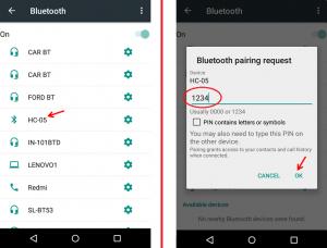 Bluetooth HC05 Pairing