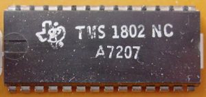 First Microcontroller TMS1802