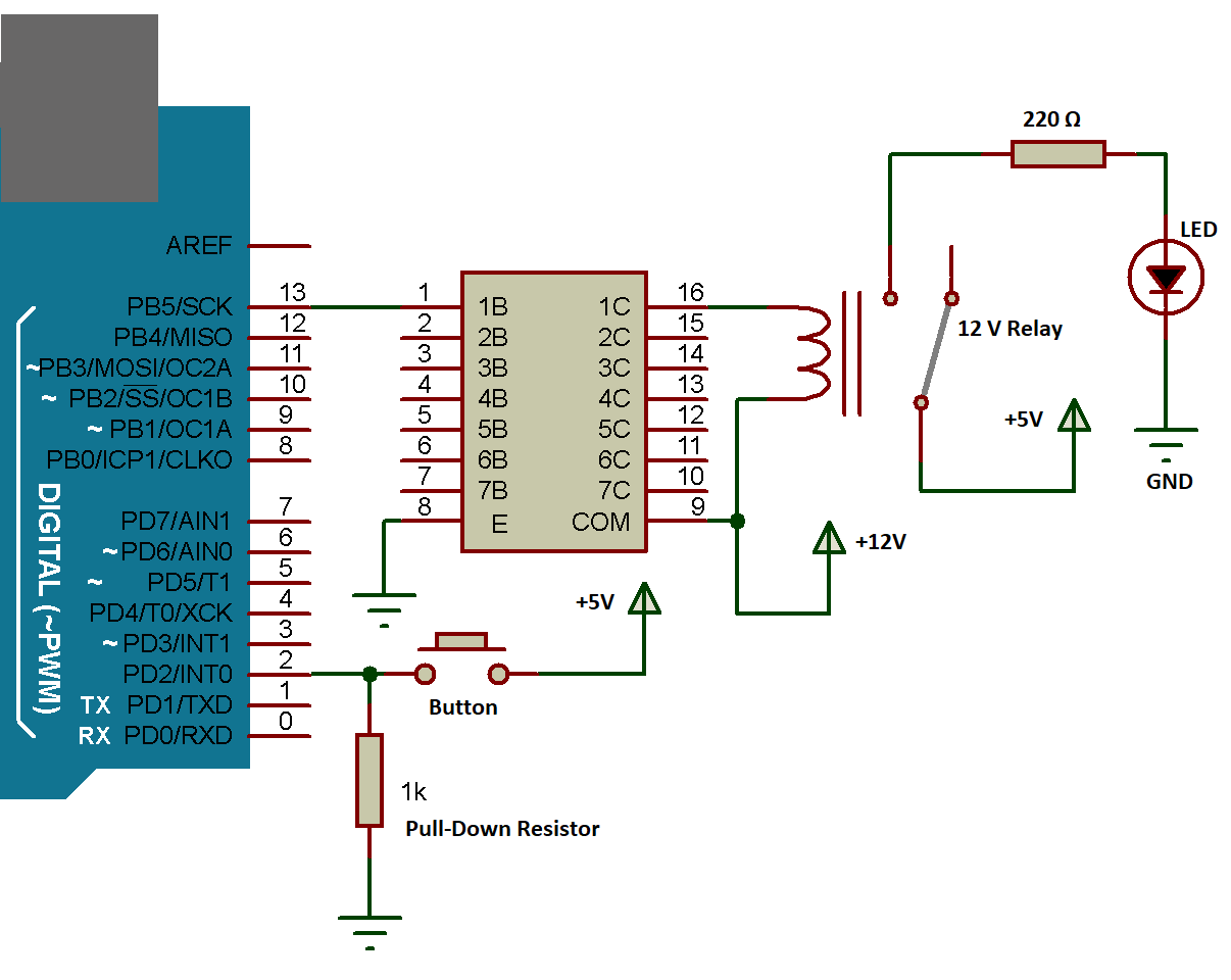 Arduino ULN with DC LOAD