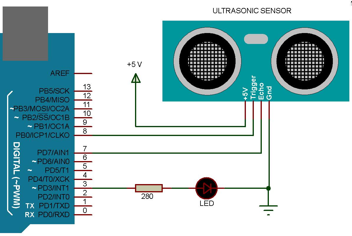 Ultrasonic Sensor with Arduino
