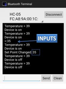 output temperature setpoint