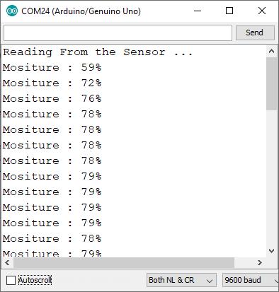 soil moisture sensor output