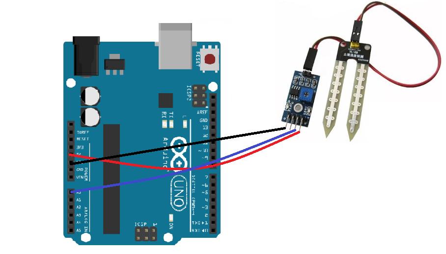soil sensor with arduino in analog mode