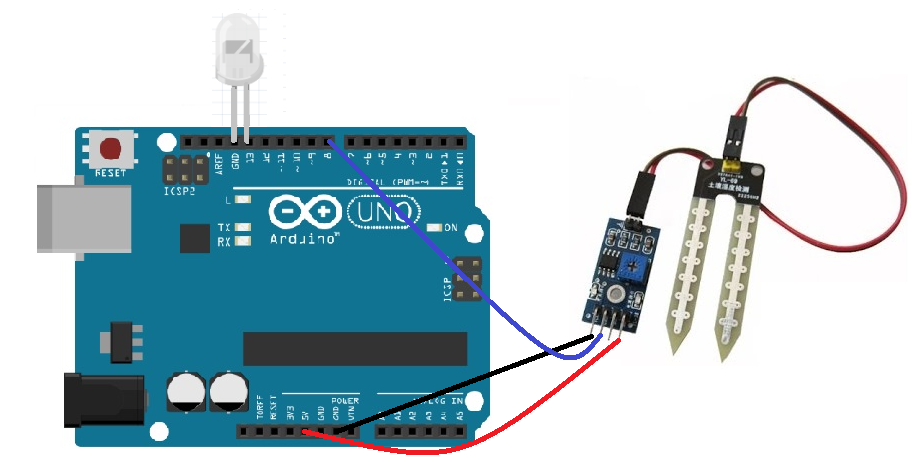 soil sensor with arduino in digital mode