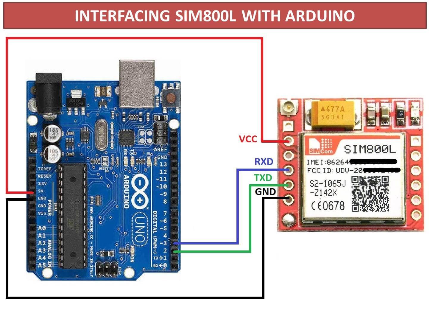 SEND & RECEIVE MESSAGES USING SIM800L