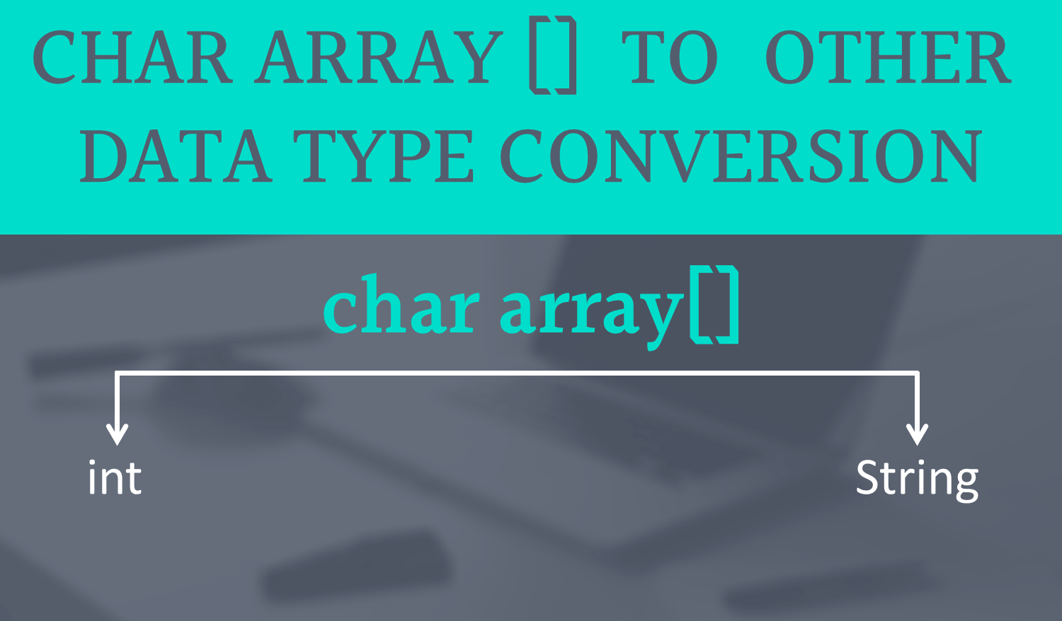 char array to String