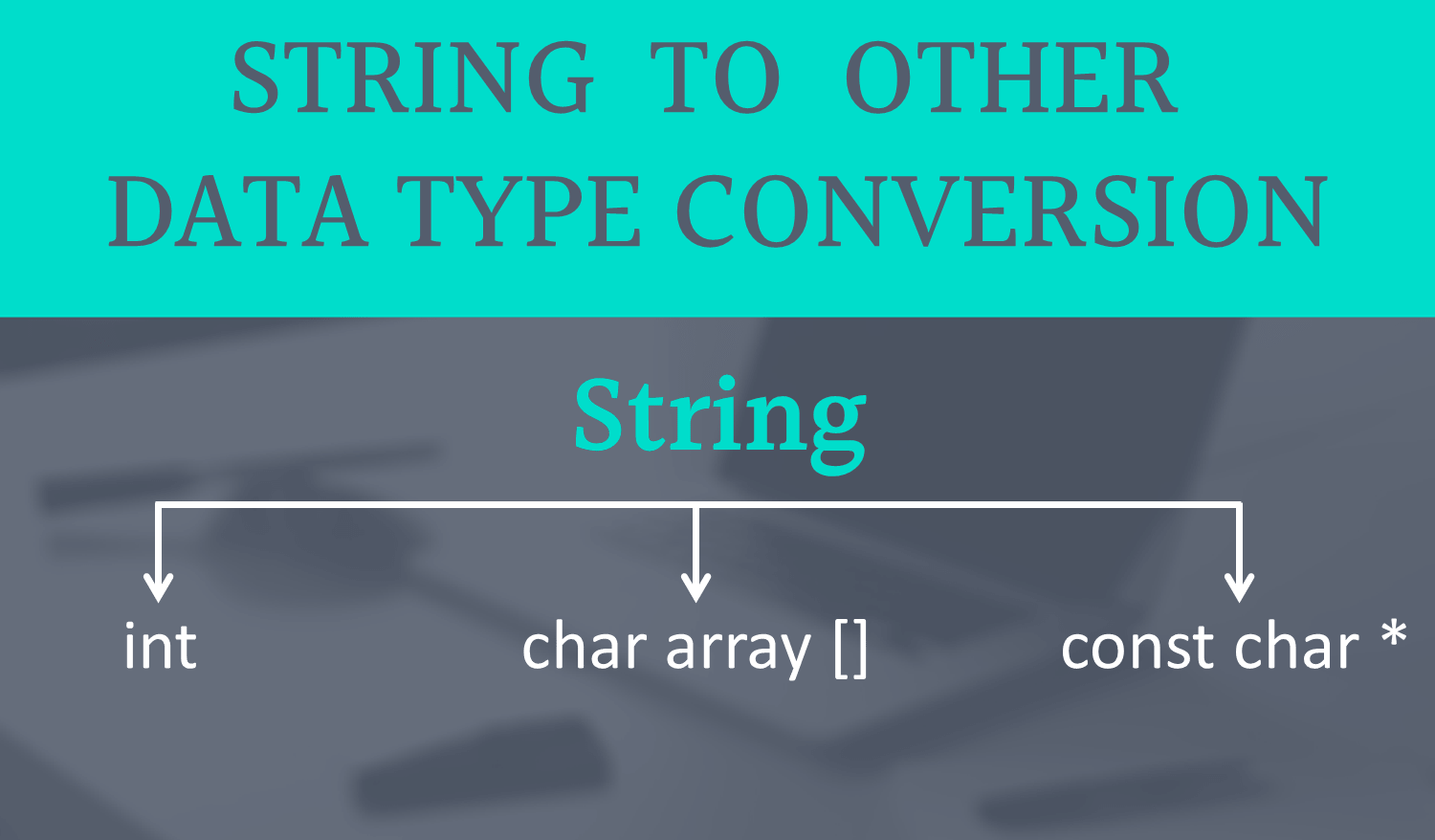 string to const char *